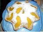 Кекс с персиками легкого приготовления