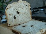 Хлеб с миндалем и черносливом (хлебопечка)