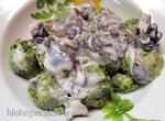 Творожные клёцки со шпинатом ( Strozzapreti (gnocchi verdi)