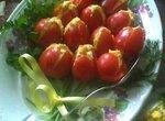 Помидоры фаршированные Букет тюльпанов