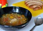 Куриный суп с перловкой и чечевицей