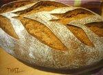 Хлеб пшенично-ржаной (50:50) на холодной опаре