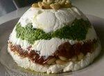 Террин из козьего сыра, соуса песто и вяленых томатов (Goat Cheese, Pesto and Sun-Dried Tomato Terrine)