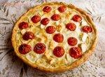 Пирог с фетой и помидорками-черри