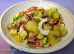 Картофельный салат с печеным перцем