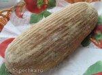 Хлеб из трех видов муки и семенами льна