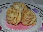 Блинчики-розочки с яблочной начинкой