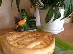 Открытый яичный пирог