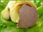 Свиная вырезка в картошке (коптильня BRAND 6060)
