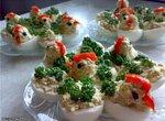 Яйца фаршированные Цыплята