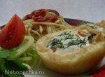 Завтрак за  5  минут. Спагетти. Вареные яйца с овощами, зеленью и сыром в пури (коптильня Brand 6060)