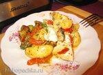 Куриные грудки в сметано-горчичном соусе с овощами в мультиварке