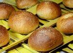 Заварные рисовые булочки с курагой (постные)