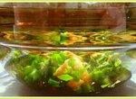 Салат из соевой спаржи со снытью и зеленью