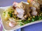 Грудинка свиная в подливе для стейков