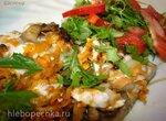 Скумбрия с грибами и морковью в аэрогриле (постное блюдо)