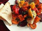 Запеченные овощи с ароматом мандаринов (и еще один вариант заправки)