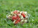 Салат с пророщенным зерном ржи
