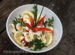 Освежающий салат Люблю море с  тунцом или креветками ( кальмаром) и морской капустой