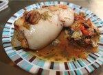 Кальмар, фаршированный морепродуктами