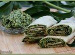 Чапати с зеленым дипом