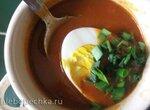 Крем-суп из сухих грибов с соусом Наполи (блендер-суповарка Tristar)