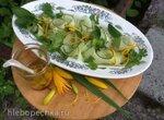 Японский огуречный салат с имбирем и кориандром  от Джеймса Оливера