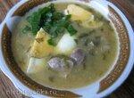 Суп-пюре со щавелем и куриными желудками (Steba DD 1 ECO)