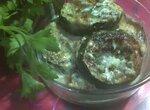 Жареные кабачки в сметанной подливе