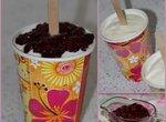 Мороженое Пломбир по рецепту Насти Понедельник с брусничным соусом (мороженица Brand 3812)