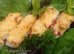 Рыба, запеченная порционно под сыром с овощами (для воскресного обеда)
