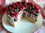 Торт-суфле ягодный (из маскарпоне)