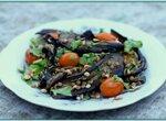 Салат из баклажанов и чечевицы