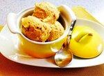 Мороженое с абрикосовым мармеладом и швейцарской меренгой на пекмезе из шелковицы (мороженица Brand 3813)