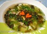 Щавелевый суп с индейкой
