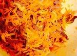 Салат из куриных сердечек и морковки