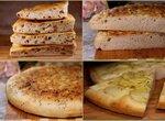 Фокачча - классическая, с картофелем, луком (3 варианта для Пиццамейкер Princess 115000)