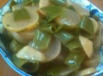 Салат из редиски с зелёным луком на зиму