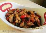 Куриное филе, жареное с овощами