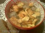 Суп с грибными клопсами (Schwimmerlsuppe mit Pilzkloeba)