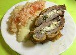 Свиной шницель по-фульдовски, фаршированный фетой (Fuldaer Sack)