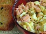 Баварский салат с растертым желтком