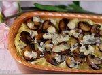 Макароны с сыром с голубой плесенью и грибами