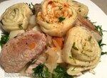 Дрожжевые штрудели со свининой и кислой капустой в Steba (Strudli aus Hefeteig mit Schweinefleisch und Sauerkraut)