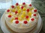 Торт-мороженое с банановыми ломтиками