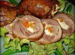 Копченые голени индейки, фаршированные сыром и курагой (в коптильне Brand 6060)