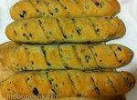 Хлеб с панчеттой, оливками и маслинами от Ришара Бертине