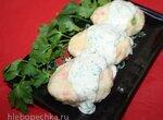 Овощные клецки с соусом из трав (Gemuesenockerl mit Kraeutersauce)
