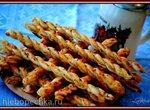 Слоёные косички с анчоусами и тмином (Kaesezoepfe mit Sardellen-Kuemmelfuelle)