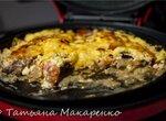 Картошка с мясом и помидорами под майонезно-сырной корочкой (пиццамейкер Princess 115000)